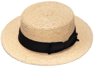 Classic Boater Straw Hat