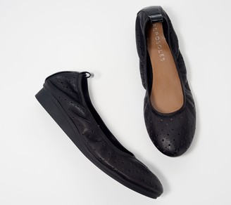 Aerosoles Leather Perforated Wedged Flats - Wooster