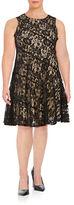Gabby Skye Plus Lace A-Line Dress