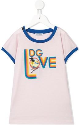 Dolce & Gabbana Kids DG Love print T-shirt