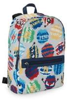 Fendi Kid's Monster Backpack