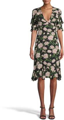 Nicole Miller Spring Dream V-neck Ruffle Dress