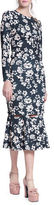 Tracy Reese Floral Cutout Trumpet Skirt