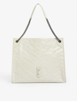 Saint Laurent Niki large leather monogram shopper bag