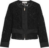 Emilio Pucci Cropped broderie anglaise cotton-blend jacket