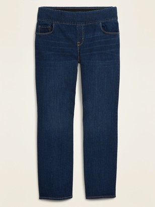 Old Navy High-Waisted Pull-On Plus-Size Kicker Boot-Cut Jeans