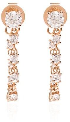 Anita Ko 18kt Gold And Diamond Loop Earrings