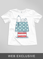 Junk Food Clothing Kids Boys Snoopy American Doghouse Tee-elecw-m