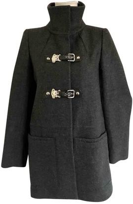 Miu Miu Grey Wool Coat for Women