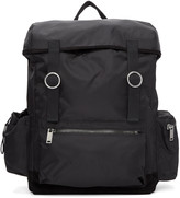 Christian Dada Black Signature Nylon Backpack