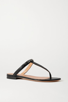 Givenchy Elba Logo-detailed Leather Sandals - Black
