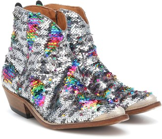 Golden Goose Sequined cowboy boots