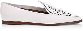 Azzedine Alaia Laser Cut Leather Loafers