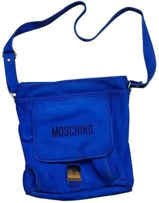 Moschino Blue Suede Handbags