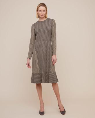 Jigsaw Petal Geo Print Jersey Dress