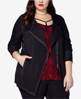 mblm by Tess Holliday Trendy Plus Size Moto Hoodie