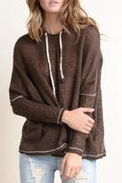 Hem & Thread Chocolate Hoodie Sweater