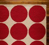 Polka Dot Rug - Red