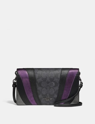 Coach Hayden Foldover Crossbody Clutch In Signature Canvas With Wave Patchwork