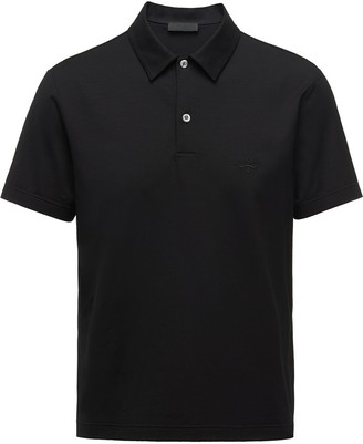 Prada Logo Embroidered Polo Shirt