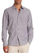 Saks Fifth Avenue Regular-Fit Converse Sneaker-Print Sportshirt