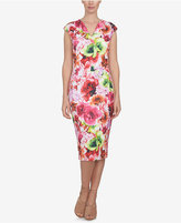 CeCe Floral-Print Sheath Dress