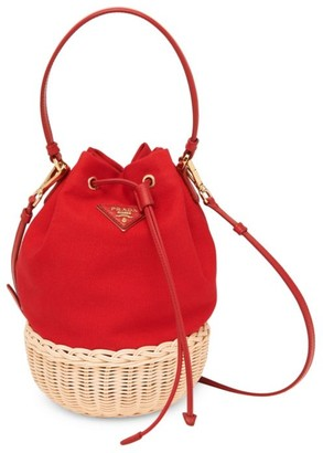 Prada Basket & Canapa Bucket Bag