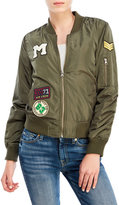 Love Tree Embroidered Patch Bomber Jacket