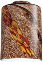 Westinghouse 6-1/2 in. Handblown Wildfire Cylinder Shade with 2-1/4 in. Fitter and 4-3/4 in. Width