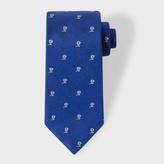Paul Smith Men's Indigo Flower Pattern Silk Tie