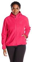 Champion Women's Plus Size Anti-Pill Micro Fleece Hooded Jacket