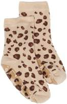 Country Kids Slipper Leopard Animal Print Socks, (Manufacturer Size:)