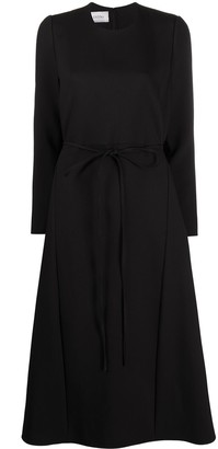Valentino Belted Wool Dress