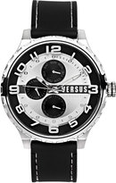 Versus By Versace 50mm Globe Oversized Chronograph Watch, Silver/Black