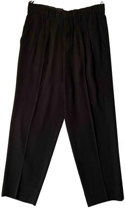 Miu Miu Black Synthetic Trousers