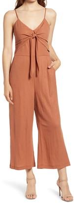 Chelsea28 Sleeveless Tie Front Jumpsuit
