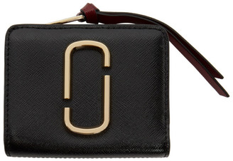 Marc Jacobs Black and Burgundy Mini Compact Wallet