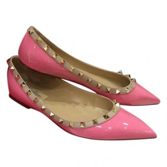 Valentino Rockstud Pink Patent leather Ballet flats