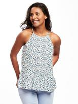 Old Navy High-Neck Sleeveless Pintuck Blouse for Women