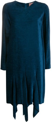Romeo Gigli Pre Owned 1990's Textured Asymmetric Dress