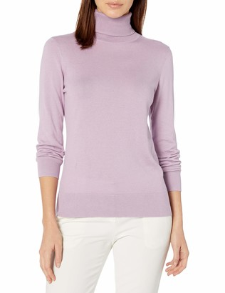 Chaps Women's Long Sleeve Turtle Neck Cotton-Sweater