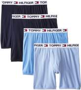 Tommy Hilfiger Men's 4-Pack Classic Cotton Assorted Blues Boxer Brief