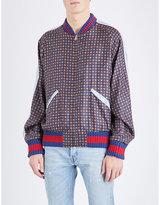 Gucci Mosaic-print Silk Bomber Jacket