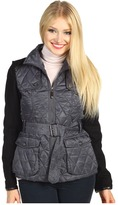Vince Camuto Mixed Media Quilted Jacket (Smoke/Black) - Apparel