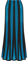 ADAM by Adam Lippes Fluted Paneled Terry And Open-Knit Maxi Skirt