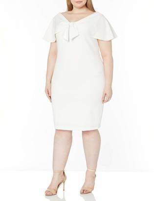 Calvin Klein Women's Size Sheath with Tie Front Caplet