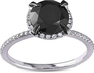 Black Diamond MODERN BRIDE Midnight 2 CT. T.W. White and Color-Enhanced Engagement Ring