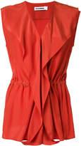 Jil Sander wrap sleeveless blouse