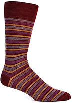 Daniel Cremieux Oxford Stripe Crew Dress Socks