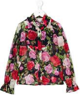 Miss Blumarine floral print shirt